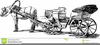 Horse Drawn Wagon Clipart Image