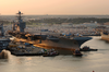 Uss Harry S. Truman (cvn 75) Pulls Away From Pier 14 Naval Station Norfolk, To Begin Her Transit To The Norfolk Navy Shipyard (nnsy) For A Planned Incremental Availability (pia) Image