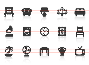 0075 Home Interior Icons Image