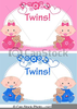 Twin Baby Girls Clipart Image