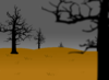 Scary Dead Field Clipart Image