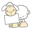 Blue Sheep Clipart Image