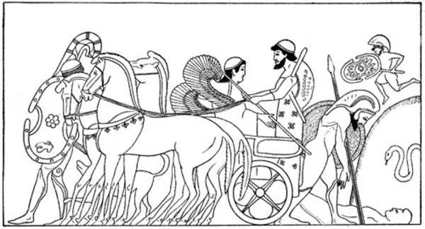 achilles coloring pages | Achilles Kills Hector | Free Images at Clker.com - vector ...