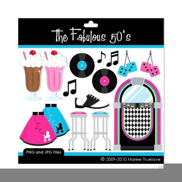 Fifties Clipart Clip Art - Commercial and Personal Use | Clip art, Retro  diner, Retro
