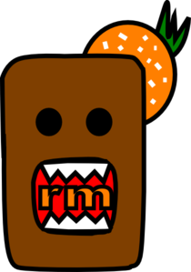 Domo Kun W/orange Clip Art