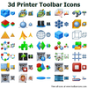 3d Printer Toolbar Icons Image