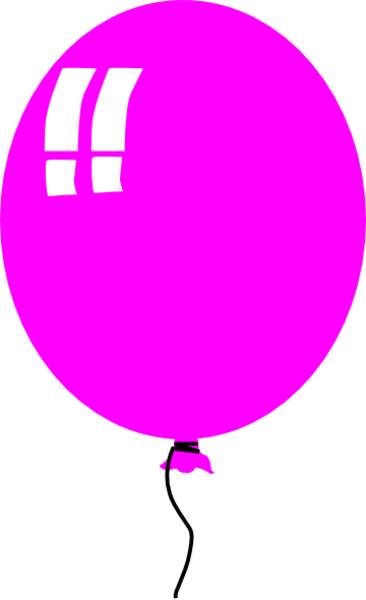 Single Pink Balloon Free Images At Clker Com Vector