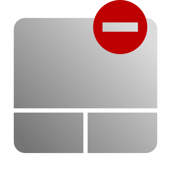 Touchpad Disable Icon Clip Art at Clker.com - vector clip ...