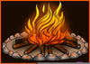 Free Animated Campfire Clipart Image
