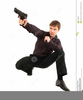 Man With Shotgun Clipart Image
