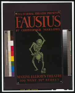 W.p.a. Federal Theatre Presents  Faustus  By Christopher Marlowe Image