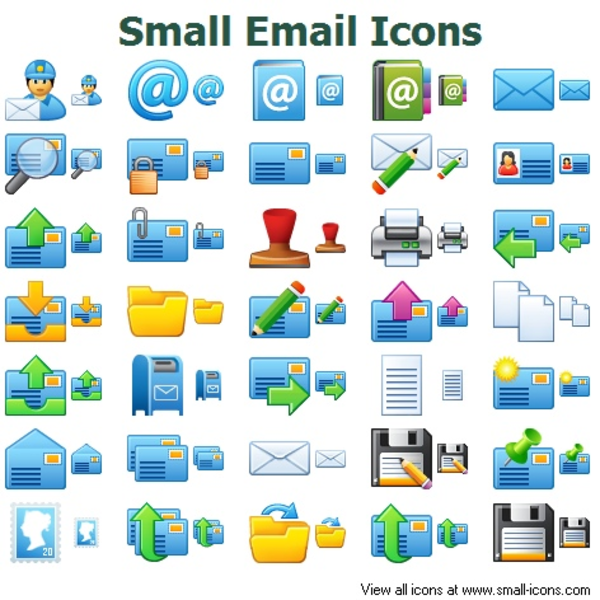 small email icons free images at clkercom vector clip