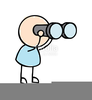 Man With Binoculars Clipart Free Image