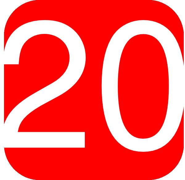 Red Number 20 Clip Art