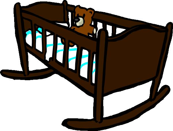 brown crib clip art at clker com vector clip art online royalty rh clker com baby girl crib clipart baby crib clip art free