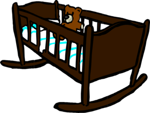 Brown Crib Clip Art