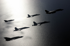 An F-14b Tomcat Flight Formation Image