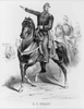 Military Man Over Horse Pointing Image
