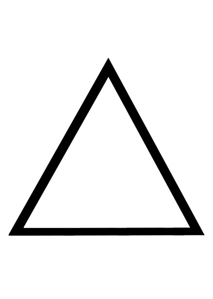 basic triangle outline