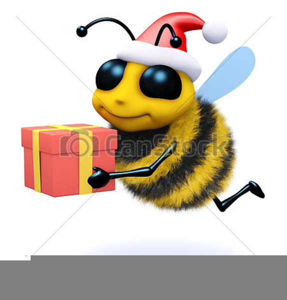christmas honey bee clipart free images at clker com vector clip rh clker com