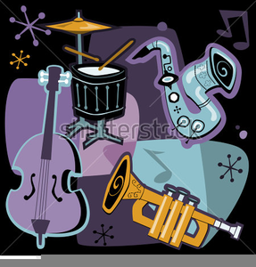 Cartoon Jazz Instruments | Free Images at Clker com - vector