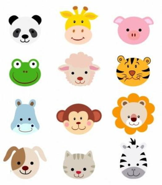 Cute animal jungle. Free clipart images at