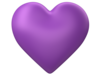 Heart D Puff Purple Transparent Image
