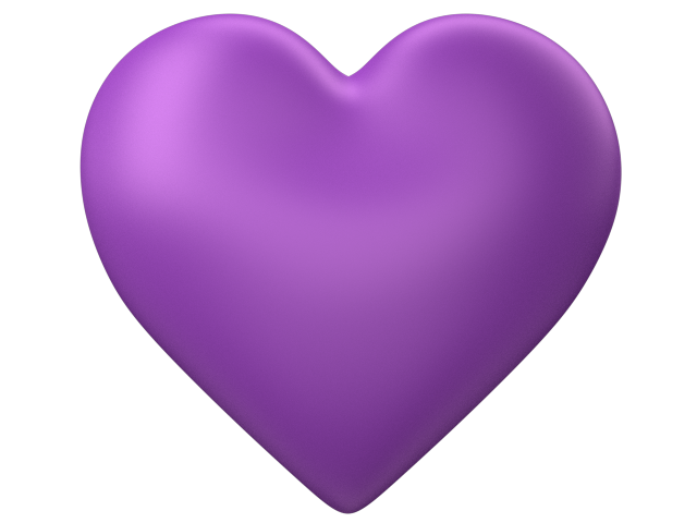 Heart D Puff Purple Transparent | Free Images at Clker.com ...