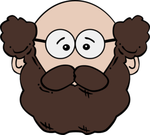 Bearded man. Clip art at clker