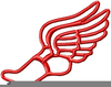 Winged Foot And Clipart Image