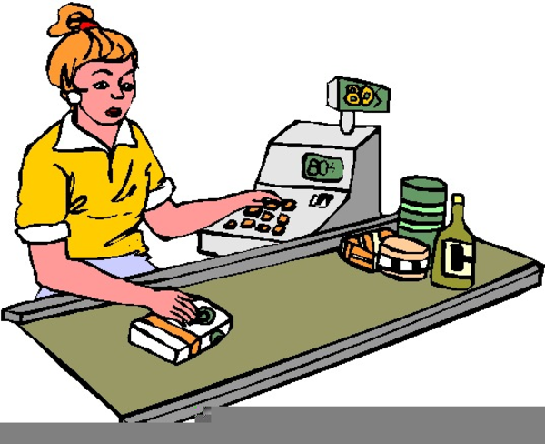Grocery store worker clipart — photo 2