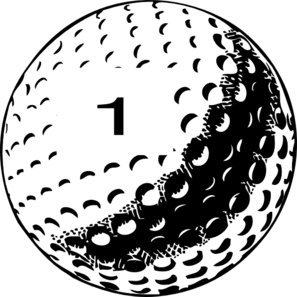 Golf Ball Number 1 Clip Art
