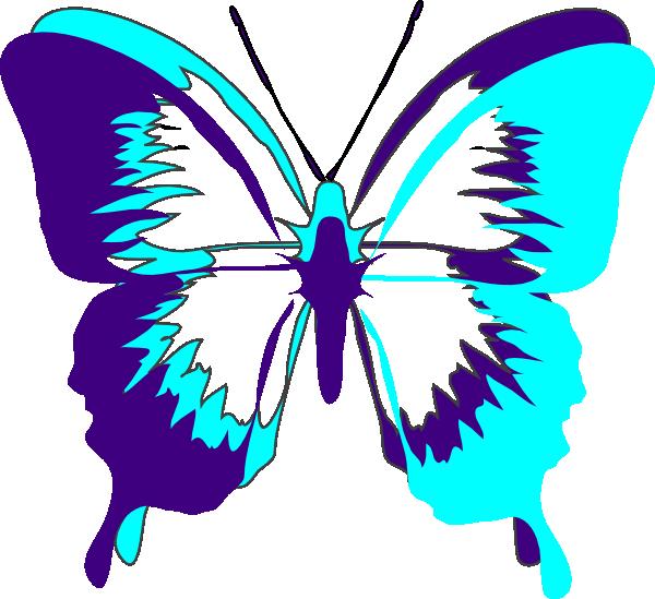 Purple Butterfly Scroll Clip Art At Clker Com: Butterfly Clip Art At Clker.com