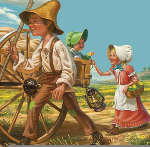Pioneer Family Clipart Image