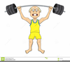 Clipart Of Weightlifter Image