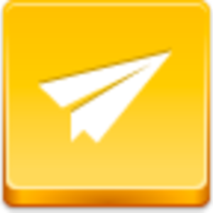 Free Yellow Button Paper Airplane Image