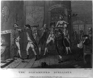 The Discomfited Duellists  / Collings, Del. ; Blake, Sculp. Image