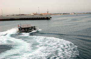 A Patrol Craft Assigned To Coast Guard Port Security Unit Three Zero Seven (psu 307) Leaves The Harbor To Monitor Activities Around Kuwait Naval Base. Image