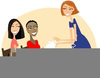 Ladies Playing Bridge Clipart Image