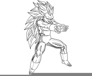 Vegeta Coloring Pages Free Images At Clker Com Vector