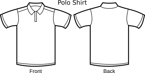 Free Polo Shirt Template Clipart Illustration image