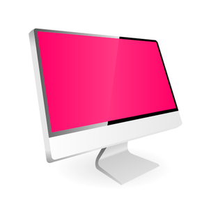 Computer Display Vector X Image