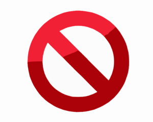 Do Not Symbol Clip Art