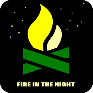 Night Fire Wood Clip Art