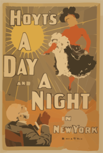 Hoyt S A Day And A Night In New York Clip Art