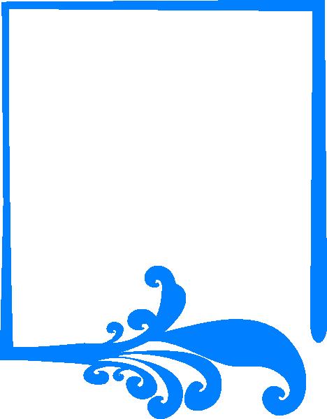 Blue Artistic Frame Clip Art at Clker.com - vector clip art online ...