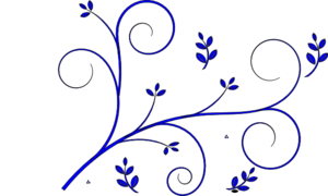 Floral Design Blue For Smagam Clip Art