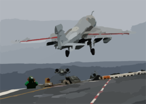 An Ea-6b Prowler Assigned To The Outlaws Of Electronic Attack Squadron One Forty One (vaq-141) Launches From One Of Four Catapults On The Flight Deck Aboard Uss Theodore Roosevelt (cvn 71) Clip Art