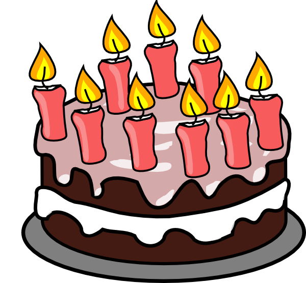 Clip Art Of Birthday Cake With Candles : 9th Birthday Cake Clip Art at Clker.com - vector clip art ...