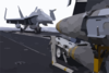 An F/a-18 Hornet Is Tied Down On The Bow Of The Flight Deck Aboard The Aircraft Carrier Uss Harry S. Truman (cvn 75). Clip Art